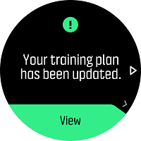 Notification when training plan was updated.
