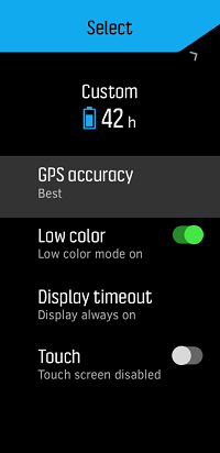 Custom battery mode