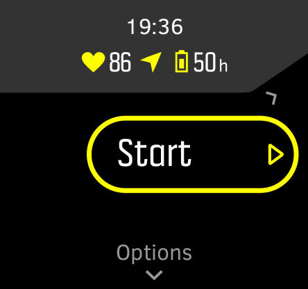Switch between battery modes by pressing the upper right button
