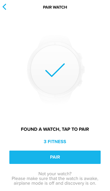 Pair your watch with Suunto app.
