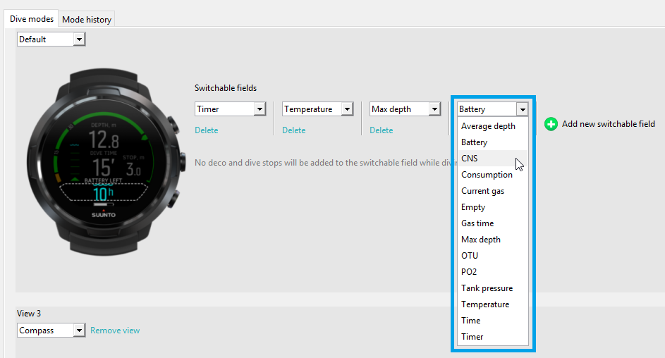 Suunto DM5 - customization step 3