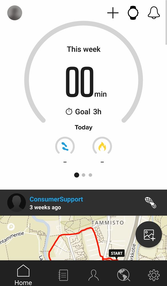 Tap the watch icon to pair Suunto D5 with Suunto app for Android