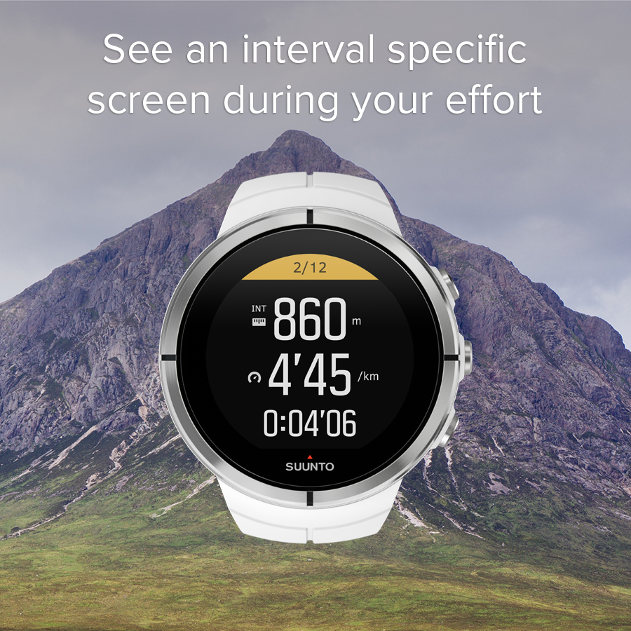 See an interval specific screen during your effort