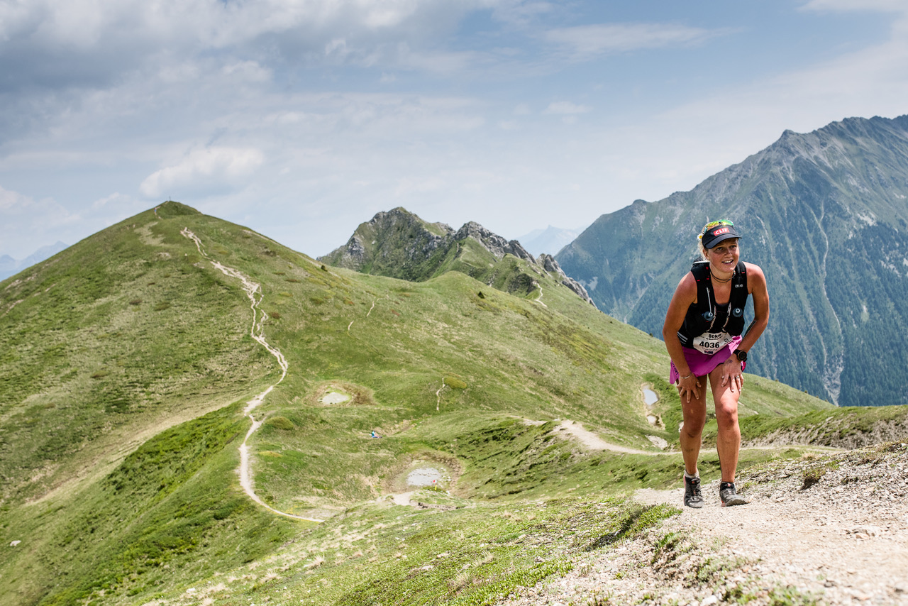 Lucy Bartholomew at Marathon du Mont Blanc (©Droz Photo)