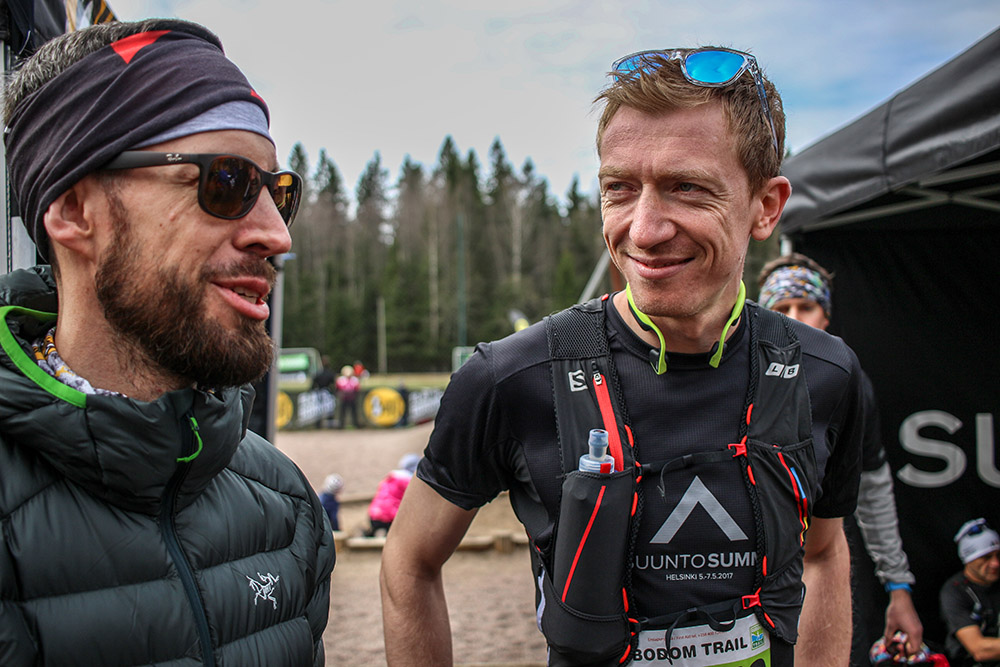 Tim Major (on the right) at Suunto Summit