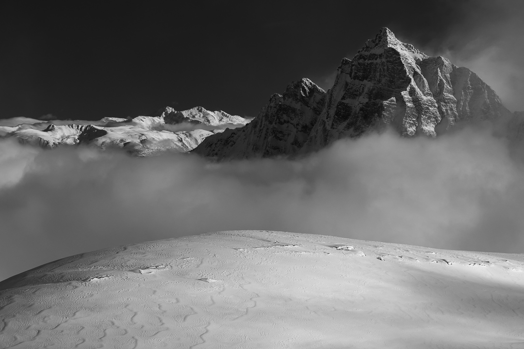 The West face of Mount Macdonald, one of Greg's dream lines. A possible ski descent? (Image by Bruno Long)