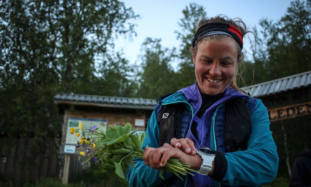 Emelie after running Kungsleden in Sweden. (Image by Philipp Reiter)