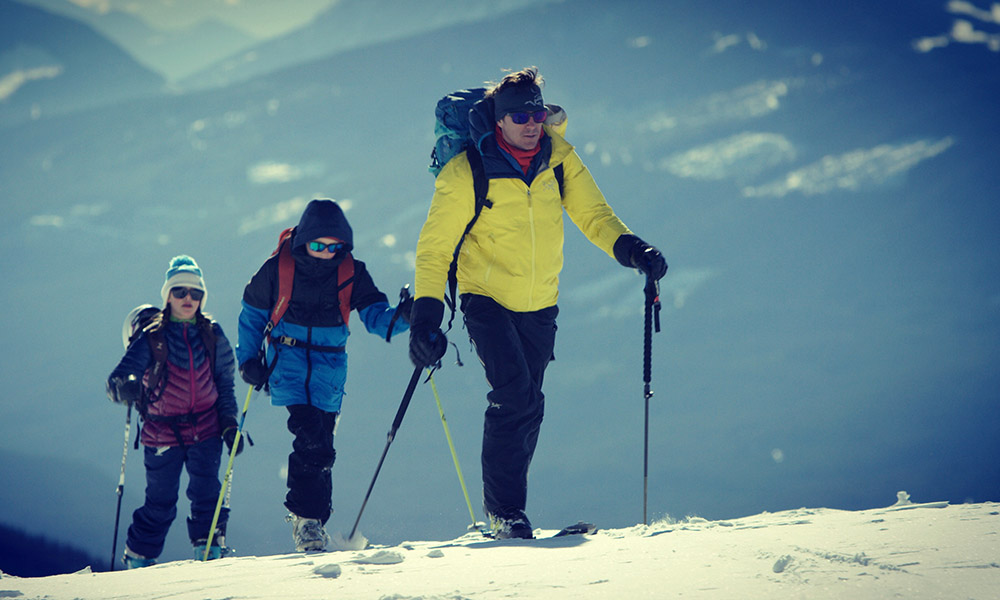 """Raising my kids I have been trying to pass on the passion for adventure, and the appreciation for the outdoors."" – ski mountaineer Greg Hill"