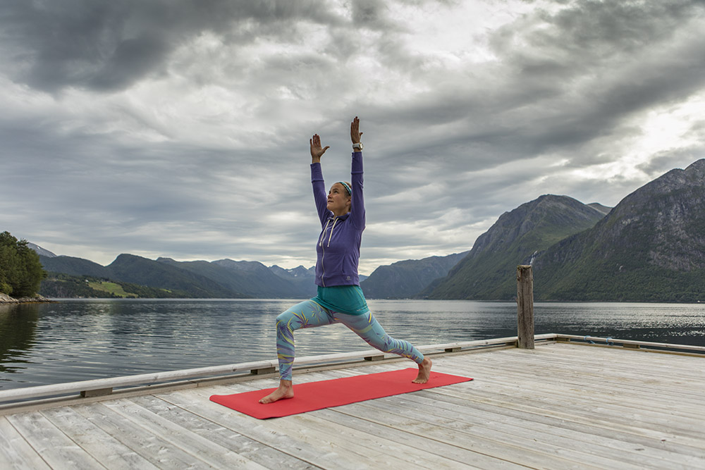 """When I make the time for yoga I really feel good,"" says Emelie. (Image by Matti Bernitz)"
