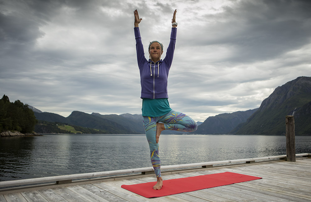 Tree pose: Five breaths each side
