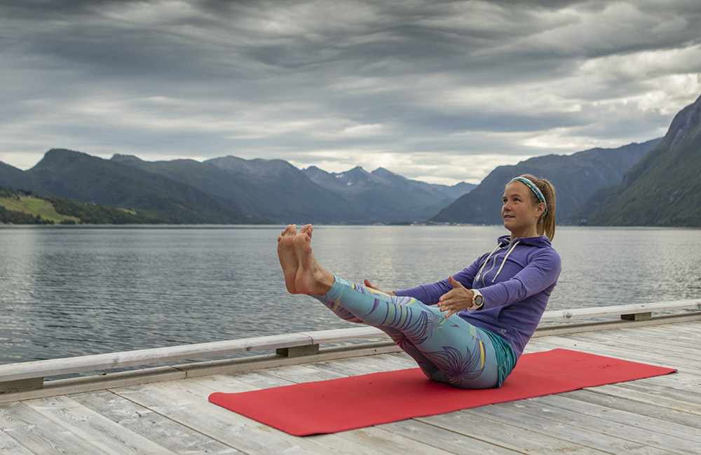 Boat pose: Five to 10 breaths