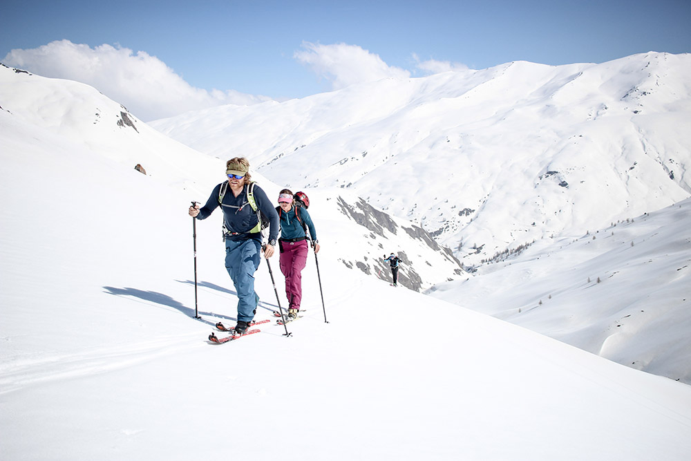 Mark and Janelle somewhere in the Alps during Red Bull Der Lange Weg this spring.
