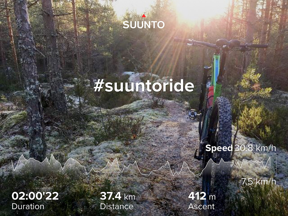 Share Suunto app activities with photos and data overlays.