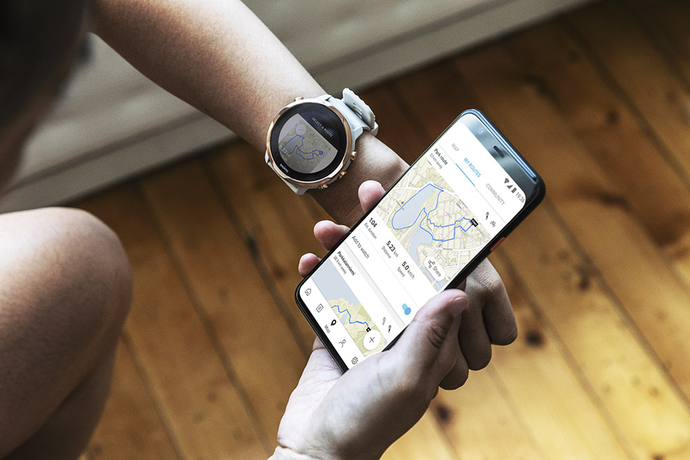 Create routes for your Suunto 7 on Suunto app.