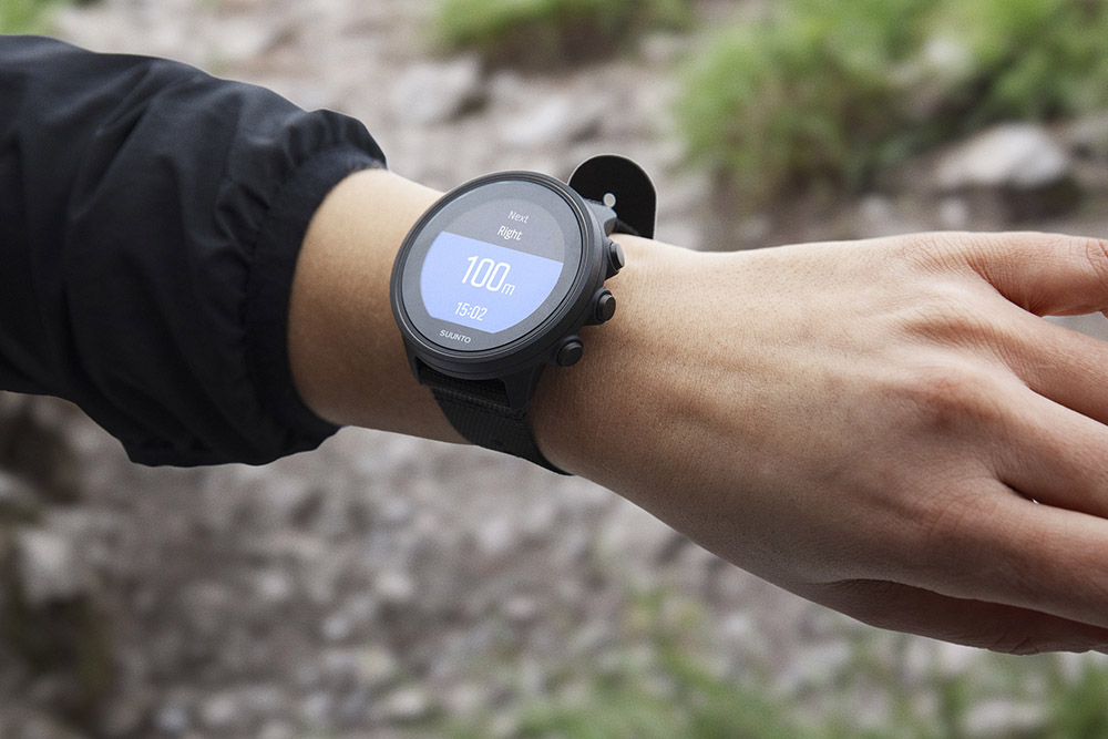 Creating routes on komoot enables turn by turn navigation on a Suunto GPS watch.